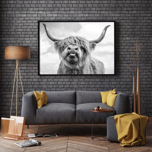 highlandcattlepostersandprint, scandinavia, Posters, animalpainting