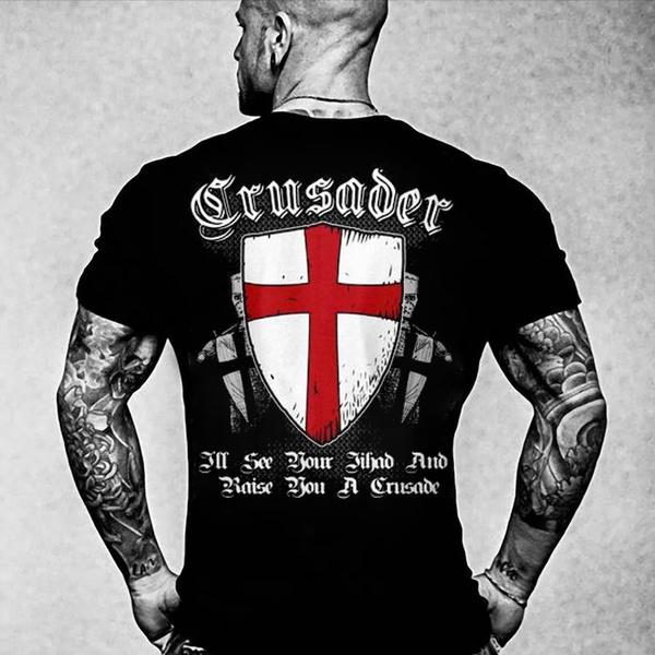 knighttshirt, warriorshirt, summer shirt, crossshirt
