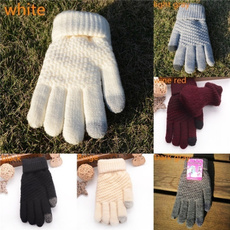 Thicken, Touch Screen, Winter, knit