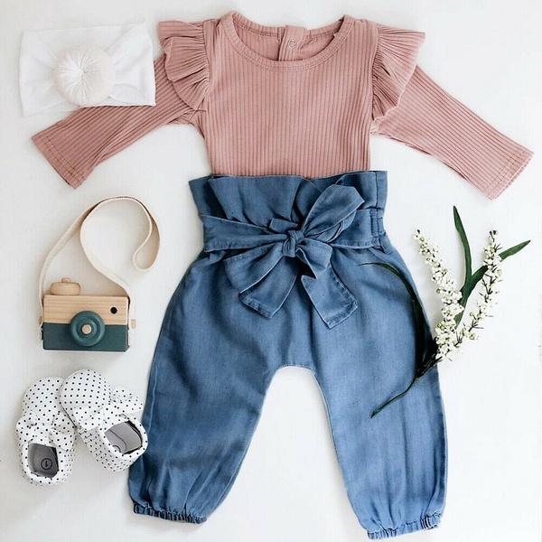 babygirlromperset, flysleeveromper, Spring/Autumn, Sleeve