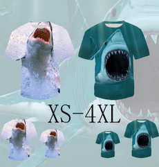 Funny, Shark, Fashion, Shirt