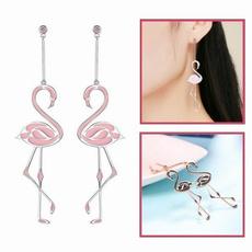 pendantearring, flamingo, flamingoearring, Jewelry