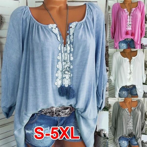 blouse, off shoulder top, Plus Size, Lace
