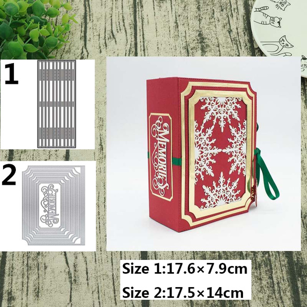 Angwang Dies Stencil,Wine Glass Cutting Dies Stencil Clear Stamp for DIY Scrapbooking Photo Album Paper Card Embossing Art Craft Decorative