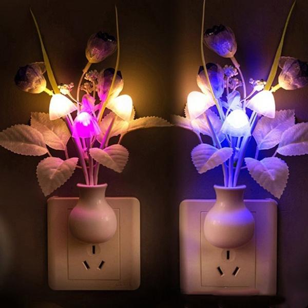 Decor, Flowers, Night Light, sensinglight