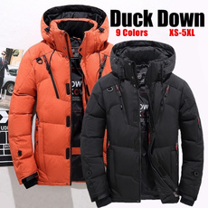 Stand Collar, wintercoatformen, hooded, mensdowncoat