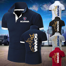 Stand Collar, Plus Size, Cotton T Shirt, scania