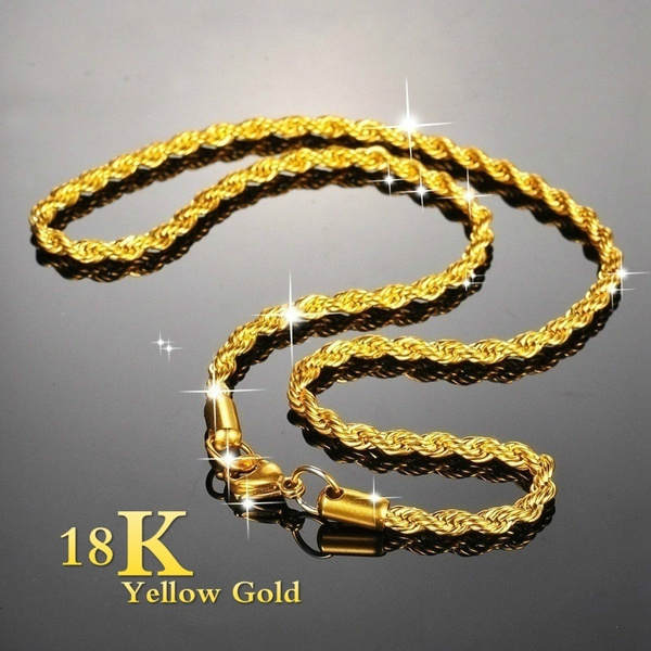 Chain Necklace, 18kgoldnecklace, Jewelry, gold
