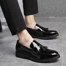 Flats & Oxfords, loafersslipon, Plus Size, leather shoes