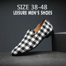 casual shoes, Flats & Oxfords, loafersslipon, plaid