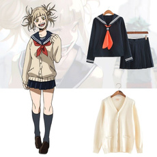 wig, School, cardigan, Cosplay