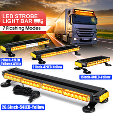 lightbar, lightbarled, strobelight, Yellow