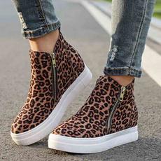 ankle boots, wedge, Plus Size, Platform Shoes