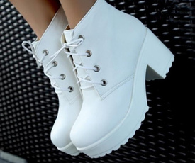 ankle boots, Lace, punk, Boots