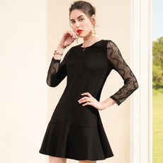 Lace, Long Sleeve, Long sleeved, onepiece