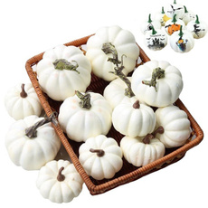 Decor, decorativepumpkin, white, whitepumpkinsset