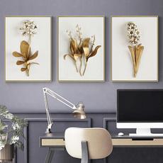 golden, Decor, Flowers, Home Decor