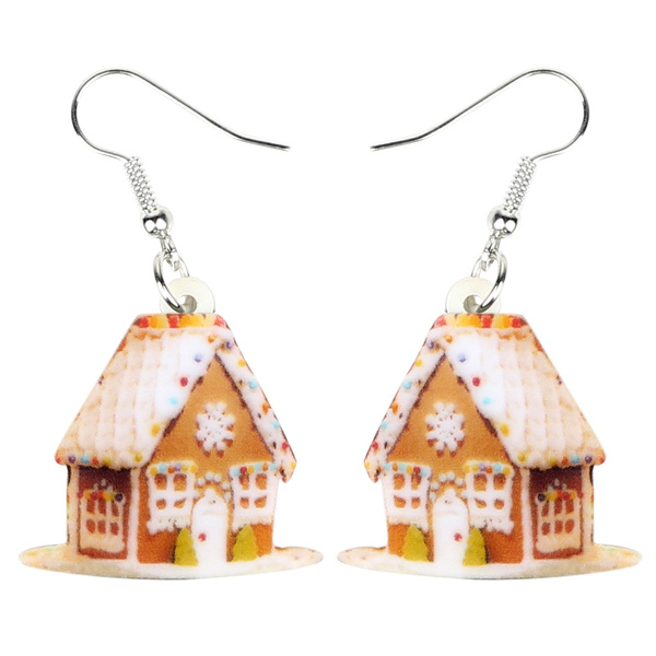 christmashouseearring, house, christmasaccessory, Earring