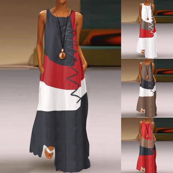 Sleeveless dress, Cotton, dressesforwomen, Tank