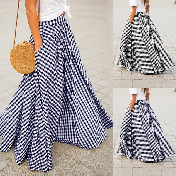 Plus Size, Waist, long dress, Skirts