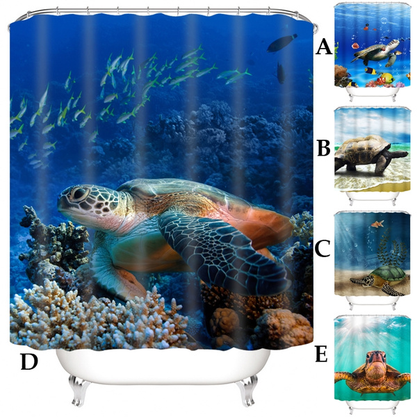 Turtle, Polyester, Bathroom Accessories, bathroomdecor
