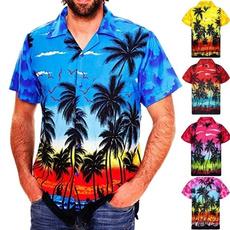 Fashion, beachshirt, menscasuallooseshirt, hawaiianstyleshirt