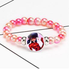 miraculousladybug, cabochon, Pearl Bracelet, pearls