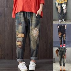 Women Pants, Plus Size, Lace, pants