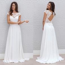 Women's Fashion, short sleeve dress, Lace, chiffon