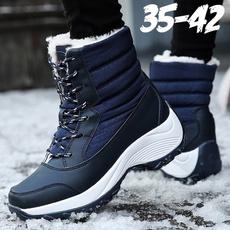 ankle boots, Plus Size, Winter, Waterproof