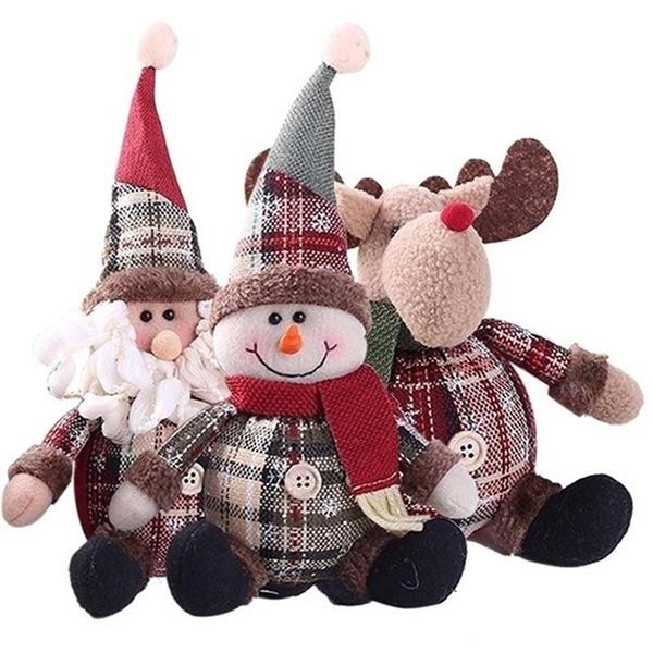 cute, plaid, Christmas, doll