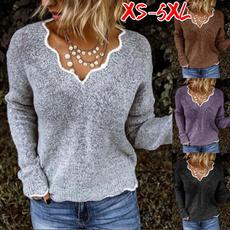 jumperforwomen, Plus Size, graysweater, Sleeve