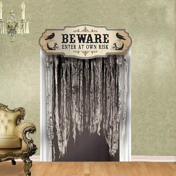 scary, Door, house, Halloween