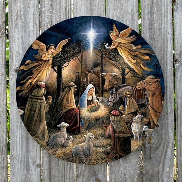 nativity, Decor, Christmas, Restaurant