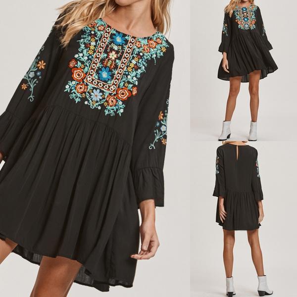 Plus Size, tunic, short dress, Sleeve
