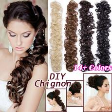 wig, Hairpieces, hairbun, Elastic