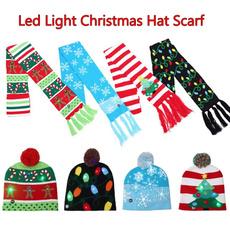 Fashion, led, xmashat, knitted hat