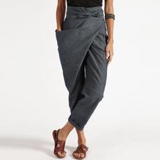 Women Pants, plussizepant, harem, zipperpant