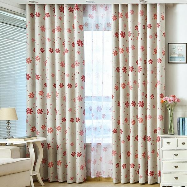 decoration, flowerprintedwindowcurtain, luxurycurtainsforlivingroom, cottonwindowvalancesforkitchen