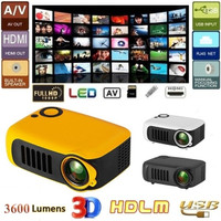 3000 Lumens Resolution Portable HD LED Projector Home Cinema Theater VGA  USB SD AV HDMI Support PC Laptop TV Box IPad Smartphone for Home Movie  Night Video Games Outdoor Movie   Wish