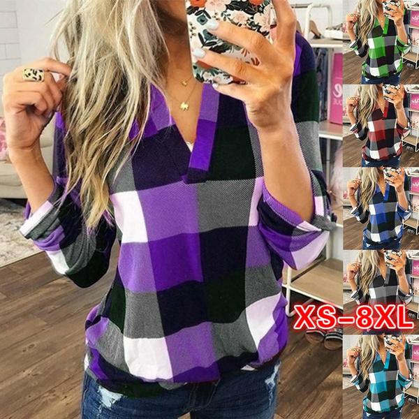 Plus Size, long sleeved shirt, Women Blouse, Long Sleeve