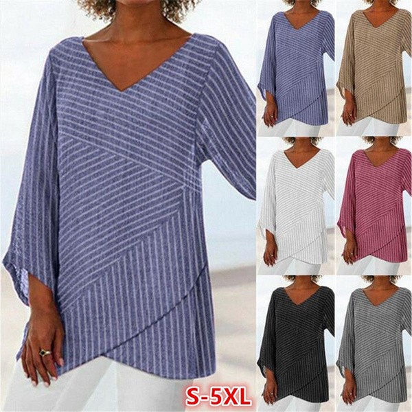 Women, Plus Size, Cotton T Shirt, Sleeve