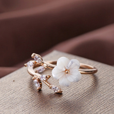 Engagement, Jewelry, gold, flowerring