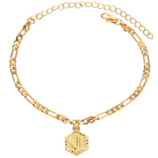 goldplated, ankletchain, Fashion, Anklets