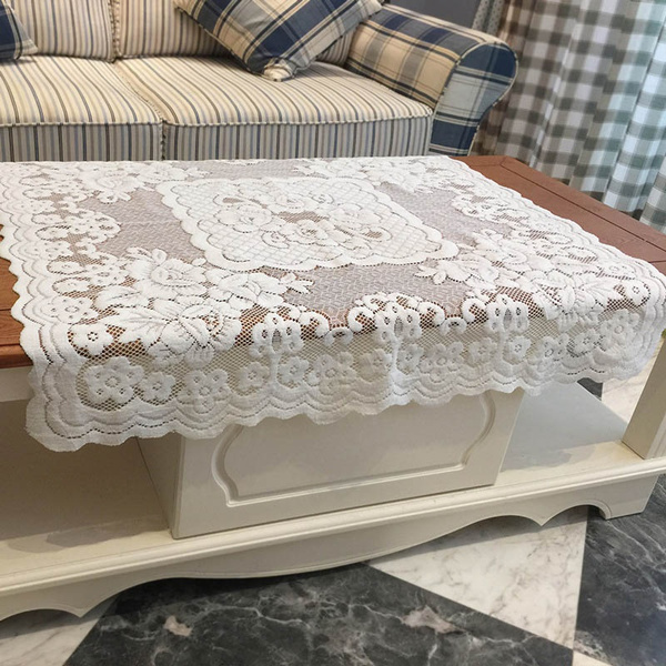 washable, Polyester, Home Decor, floral lace