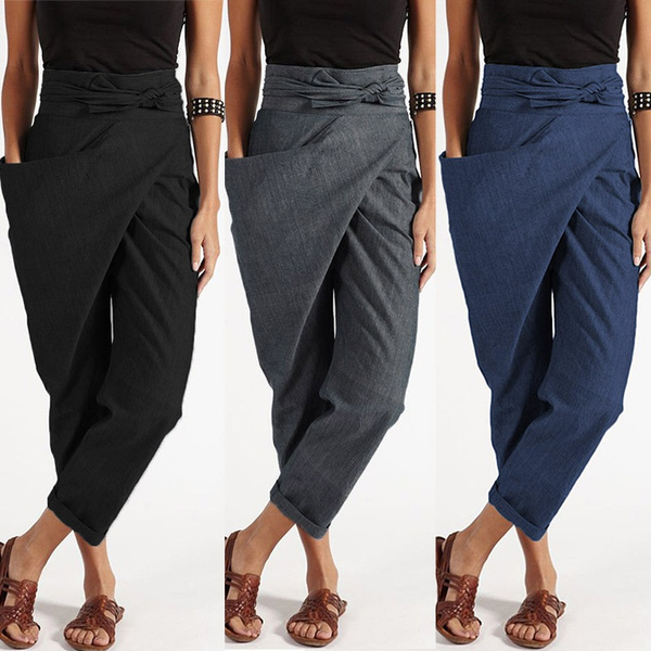 Women Pants, plussizepant, harem, zipperpant
