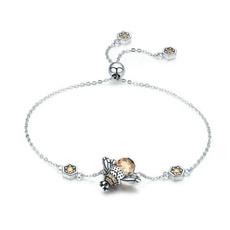 Sterling, Crystal Bracelet, Moda, Chain