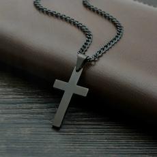 Steel, titanium steel, Cross necklace, Chain