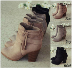 fashion women, short boots, roughheel, Winter