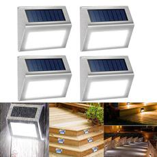Steel, solarsteplight, solarstairlamp, lights